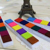 Wholesale DIY Multi function Ink Pad Print Rubber Stamps Paper Wood Craft Inkpad Pat