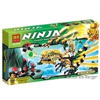 Wholesale Christmas gifts Ninjago The Golden Dragon Building Blocks Sets Bela Educational Toys Brick blocks LR