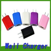 Wholesale 2016 Colorful A EU US Plug USB Wall Charger AC Power Adapter Home Charger for iphone s plus s Samsung S6 note5