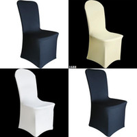 Cheap SPANDEX CHAIR COVERS Wedding Party Lycra Cover - White Ivory White UNIVERSAL FIT