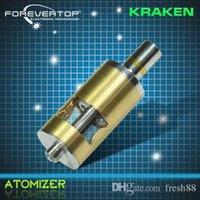 Cheap us crazy sale Replaceable Kraken Clone Atomizer Vaporizer Tank Huge Vapor Stainless Steel Kraken Clearomizer For 510 EGo Thread Battery 22mm