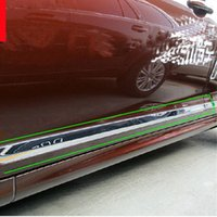 auto body molding - Car Auto Accessory Side Body Trim Side Door Molding Trim For Volvo Xc60 Abs Chrome Per Set order lt no track