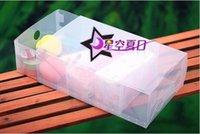 Wholesale Transparent Folded Shoe Box storage box drawer type shoe box