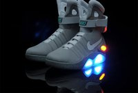 silk stretch satin - With Original Box NIKE AIR MAG Shoes LED Mens Nike Mag Basketball Shoes Fashion Mens running shoes Luxury grey size
