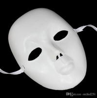 blank half mask - Party Mask White Blank Hiphop Street Dance Mask Half Face Mysterious Masks DIY Bboy Style Orc