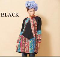 indian dresses - 2015 NEW High Quality Spring Fashion Ethnic Flower Print Dress Retro Short Mini Dress Long Sleeve Large Size Loose Indian dress