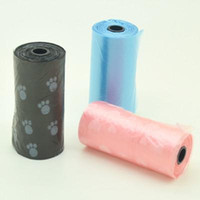 Wholesale 9 Rolls Pet Dog Cat Clean up Garbage Bag Puppy Pick Up Waste Poop Bag Colors A1269
