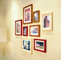 Wholesale Combination frame wall solid wood wall white wall