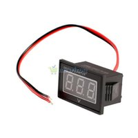 Wholesale Waterproof DC to V Red LED Panel Meter DC Digital Voltmeter Two wire S7NF