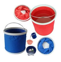 Wholesale Portable folding bucket fishing outdoor camping barbecue car wash bucket bucket L loaded