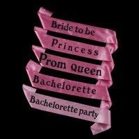 Wholesale Event Party Accessories Novelty Design Pink Satin Sash Match Women Wedding Dress For Bridal Bachelorette Party order lt no track