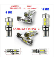 Wholesale 50PCS T10 CANBUS SMD W5W CAR SIDE LIGHT BULBS ERROR FREE LED XENON HID WHITE