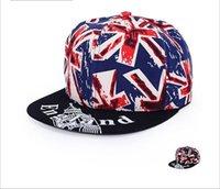 ball torx - New Europe Hip hop hat Female Torx British flag flat brimmed hat male sun hat tide couple Baseball Cap