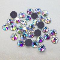 ab cuts sport - 200 Gross Cuts mm SS16 Bulk Packing Crystal AB Golden Light Flatback DMC Hotfix Machine Cut Rhinestones