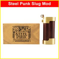 Wholesale Steel Punk Slug Mod wooden Mechanical Mods clone for thread Doge Dark horse V2 RDA atomizer