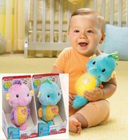 Cloth fisher price toys - Music Mobile Baby Bed Bell Fisher Price Ocean Wonders Soothe and Glow Seahorse Kawaii Sea Horse Plush Toys for Pram and Crib