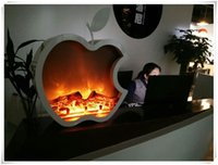 electric fireplace - 2015 year very sale new Apple shape beautiful decorative simulated electric Fireplace