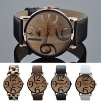 big digit clock - 2015 Casual Watches Women Dress Watch PU Leather Strap Big Digit Quartz Clock Women s Fashion Watch relogio feminino XMPJ685 S1