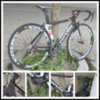 Wholesale Buy new Diy Carbon Road Full Bike Complete Bike With Ultegra Groupset white mm wheelset