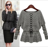 angora blend - 2015 Fashion Women sweatshirts New Style Angora Pullover Sweater stringing Brooch Long Sleeve Round Collar Sweater JXZZ