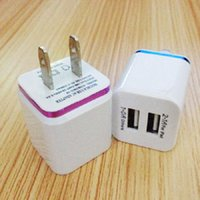 Wholesale 5V A Dual USB wall US plug A AC Power Adapter Wall Charger for samsung galaxy note LG tablet ipad