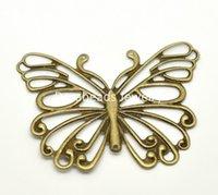 filigree findings - Antique Bronze Filigree Butterfly Wraps Connectors Pendants DIY Finding x5cm B18419