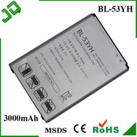 Wholesale BL YH BL53YH Mobile Phone Battery For LG G3 F400 D830 D850 D851 D855 Replacement Batterie Bateria Batteria Batterij AKKU