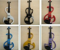 Wholesale New arrival styles Electric Violin violin wood Mahogany material colors violino eletrico