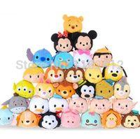 Wholesale Original Tsum Tsum Plush Toys Minnie Mickey Donald Duck Stitch Marie Cheshire Cat Dumbo Toy Story Kawaii Smartphone Cleaner