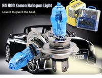 Wholesale H4 kit xenon car styling Super Bright White Fog Halogen Bulb Hight Power W Car Headlight Lamp Parking Car Light Source