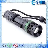 flashlight in torch light - High Quality Lumen Zoomable CREE XM L Q5 LED Flashlight Torch Zoom Lamp Light Black wu
