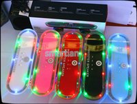 Wholesale Scooter BT03L Skateboard Mini Bluetooth Speaker with LED Light Wireless Stereo Audio Player Protable Handsfree FM Super Bass for samsung s7