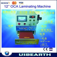 Cheap 12'' LCD OCA Vacuum laminating machine (No Need Remove Bubble ) with touch screen control panel