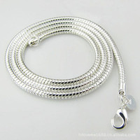 batch trades - Trade silver necklace with chain silver jewelry MM quot inch Korean Europe and America can be mixed batch