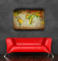 "Cheap Hot selling mapa canvas art painting poster for rooms wall decor 24""x36""(60x95cm),20""x30""(50x80cm) vintage world map"