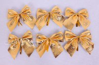 Wholesale Gold bow christmas tree decoration christmas pendant hot selling Christmas decoration