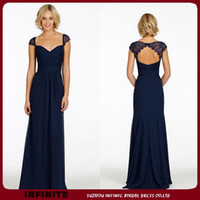Cheap navy bridesmaid dress Best chiffon bridemaid dresses