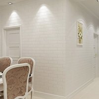Wholesale Thickening white brick wallpaper for walls Rustic TV background D brick wall paper roll wallpapers brick wall