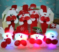 accessories led decoration - New Hot Selling Christmas Gift Xmas Santa Claus Snowman Toy Slap Pat With LED Light Circle Bracelet Wristhand Decoration Ornament