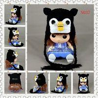 beanie babies penguin - Penguin Crochet Knitted Hat Newborn Handmade Headwear Infant Toddler Kids Cap Baby Boys Hat Christmas Children Beanie Cotton