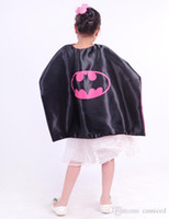 batgirl costume accessories - Batgirl cape double layer capes christmas halloween costume cosplay show child party favors size for choose