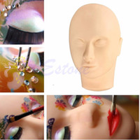 Wholesale Pro Training Mannequin Flat Head Practice Make Up Eyelash Eye Lashes Extensions