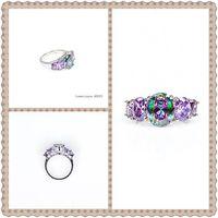 Wholesale 2015 Fashion Purple Tourmaline Rings For Women Size Cheap Women Lady Ring Gift