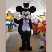 2015 del envío Wholesell Nueva Mickey y Minnie EVA ratón traje de la mascota Rojo Negro vestido de lujo gratis