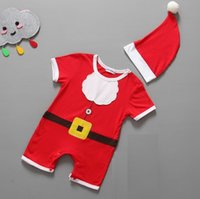 bebe clothing - Cheapest Baby Christmas clothes sets Boys Shortall Hat bebe clothes suit one piece clothing Infant Bodysuits Outfits