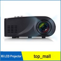 Wholesale X6 Projector Lumens P Full HD LED Projector Contrast Ratio Projection with HDMI VGA AV Port Remote Control
