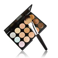 Wholesale Face Concealer New Pro Salon Party Makeup Color Concealer Palette Contour Face Cream With Powder Brush In