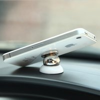 Wholesale Universal Degree Rotatable Magnetic Car Holder for iPhone Samsung S5 GPS tablet PDA car Ball Holder Mobile Phone Holder order lt no
