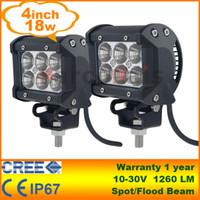 Wholesale 2pcs quot W Cree LED Work Light watt Lamp Tractor Boat Off Road WD x4 v v Truck SUV ATV Spot Flood Super Bright
