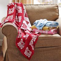 Wholesale 4 Styles Cartoon Throw Blanket Percent Cotton Knitted Baby Children Kids Blanket Owl Elephant x43inch x110cm